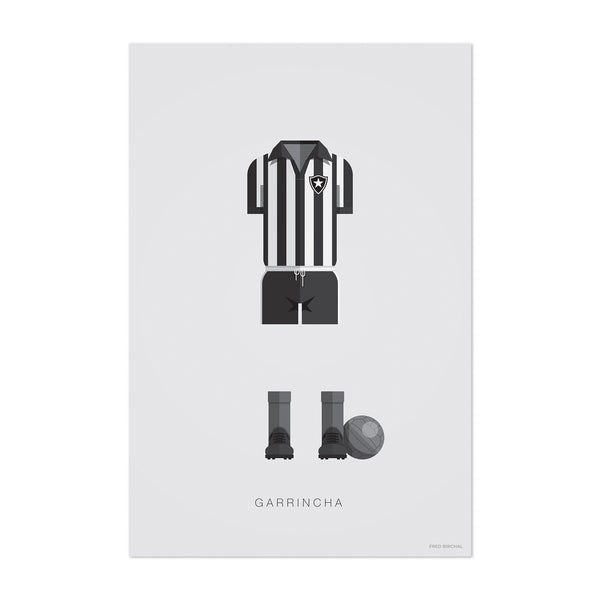 Garrincha Soccer Illustration Art Print