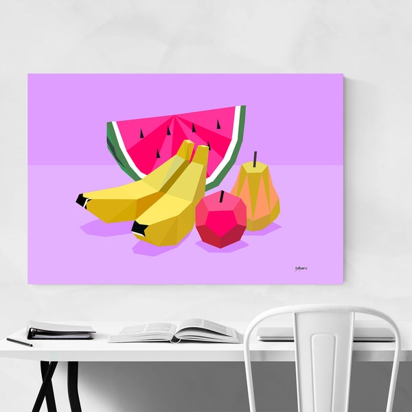 Minimal 8 Bit Fruit Kitchen Art Print