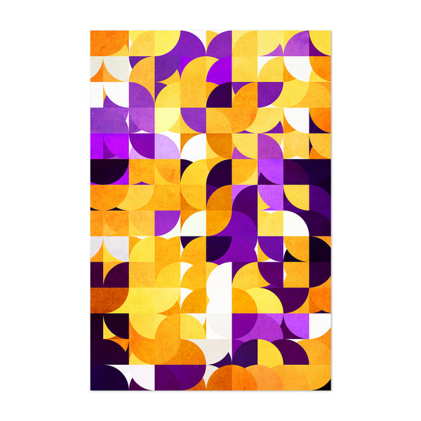 Geometric Abstract Colorful Shape Art Print