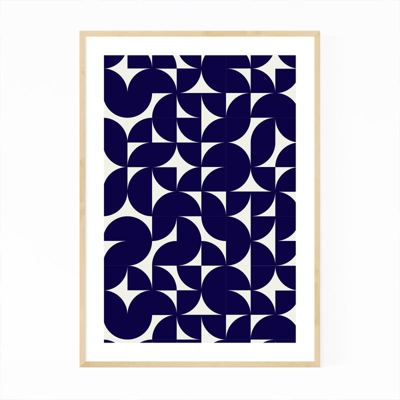 Abstract Geometric Shapes Pattern Framed Art Print