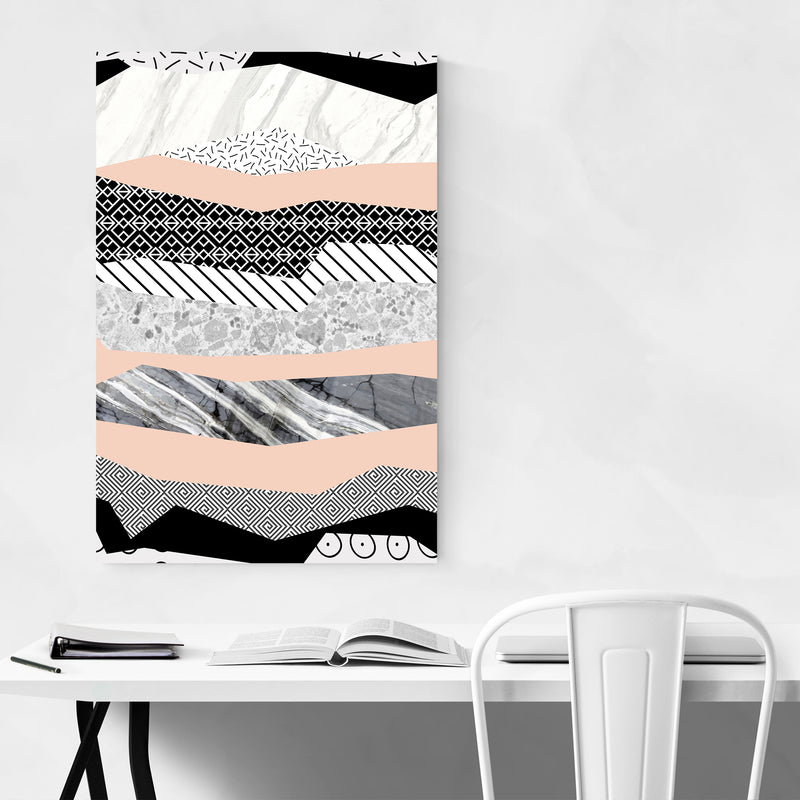 Abstract Geometric Shapes Pattern Art Print