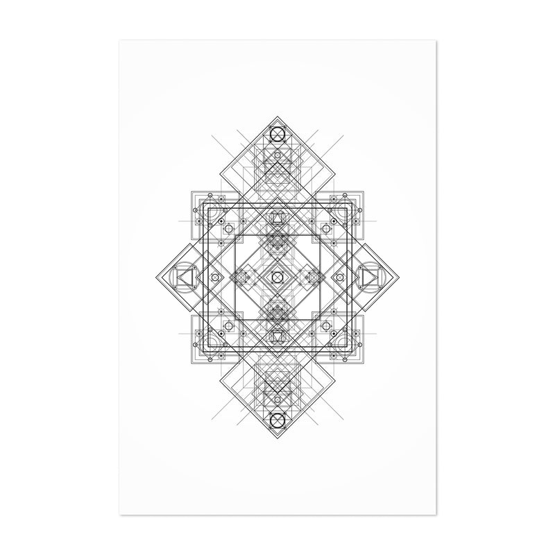 Abstract Geometric Minimal Art Print