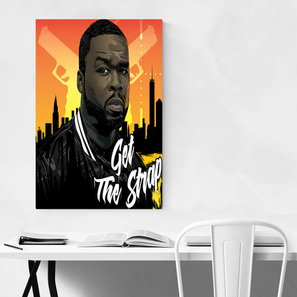 50 Cent Get The Strap Art Print