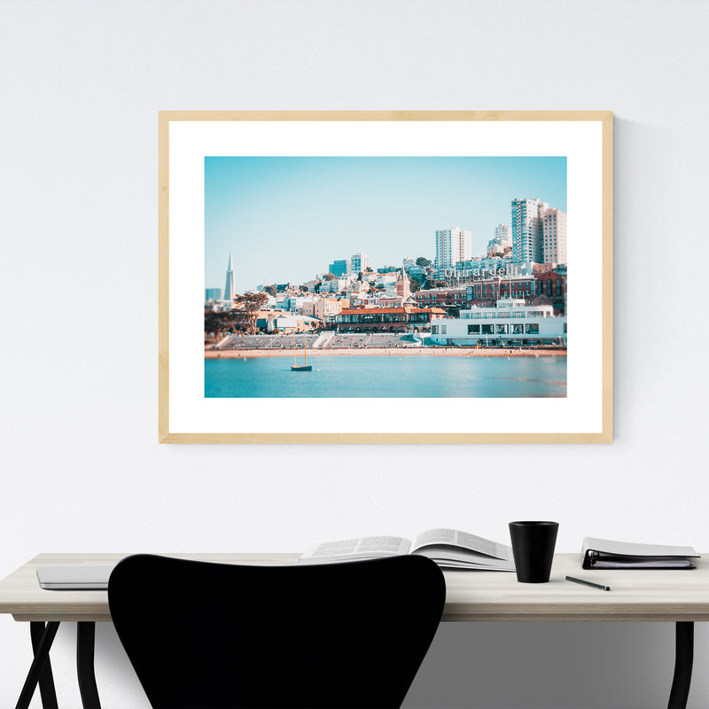 San Francisco California Photo Framed Art Print