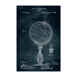 Globe World Travel Patent Print Art Print