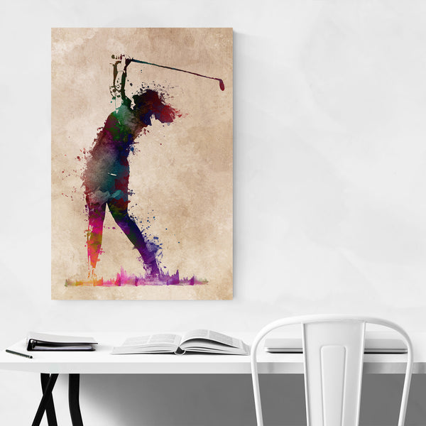 Golf Player Golfer Gift Sports Art Print