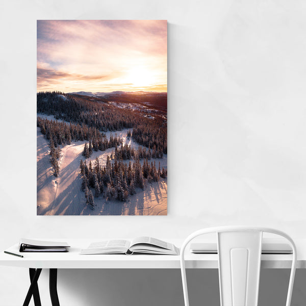 Nesbyen Norway Mountains Photo Art Print