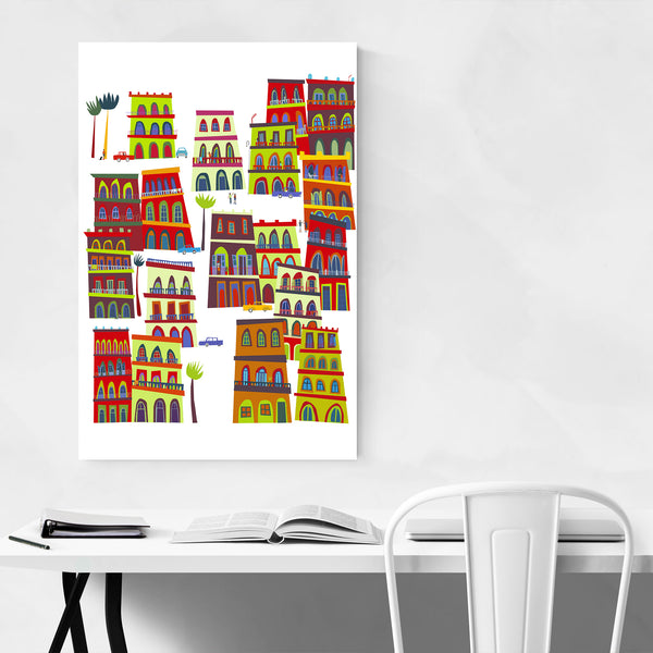 Havana Cuba Urban Illustration Art Print