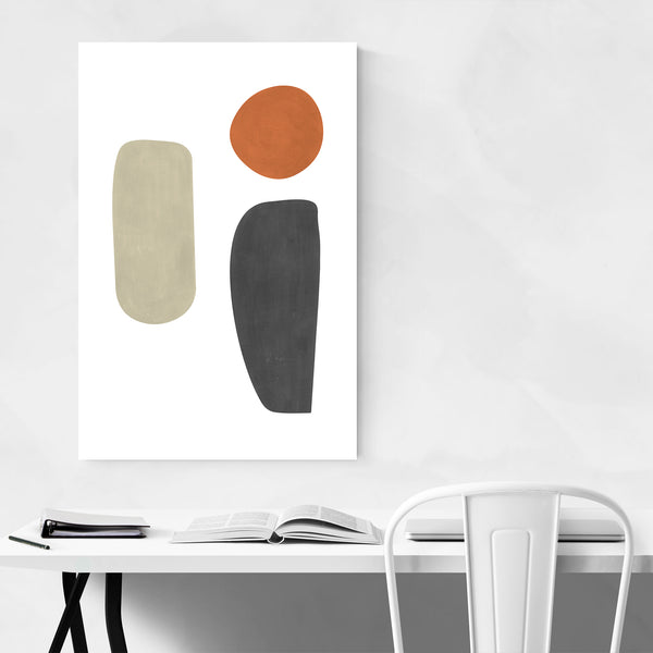 Gouache Abstract Organic Shapes Art Print
