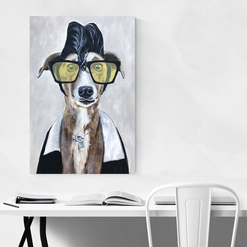 Greyhound Rock Painting Art Print
