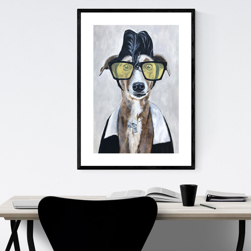 Greyhound Rock Painting Framed Art Print