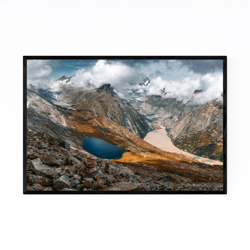 Swiss Alps Mountains Landscape Framed Art Print
