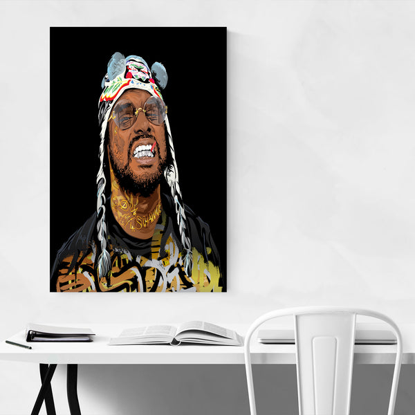 Schoolboy Q Portrait Rap Music Art Print