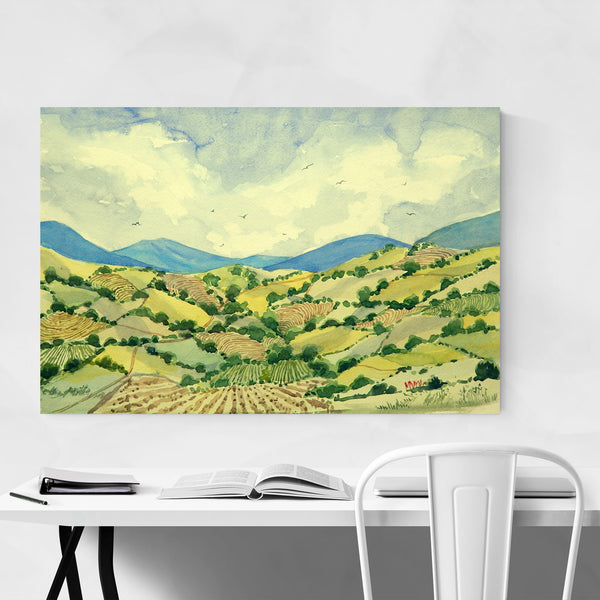 Guatavita Valley Colombia Painting Art Print