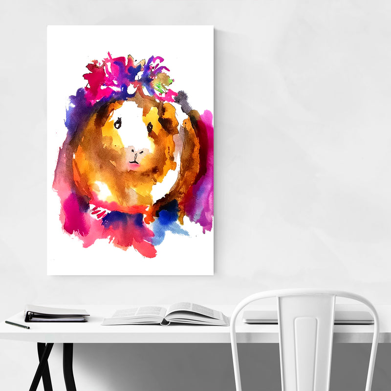 Guinea Pig Watercolor Kid's Room Art Print