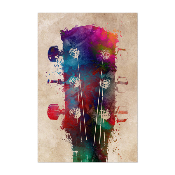 Guitar Player Gift Music Art Print