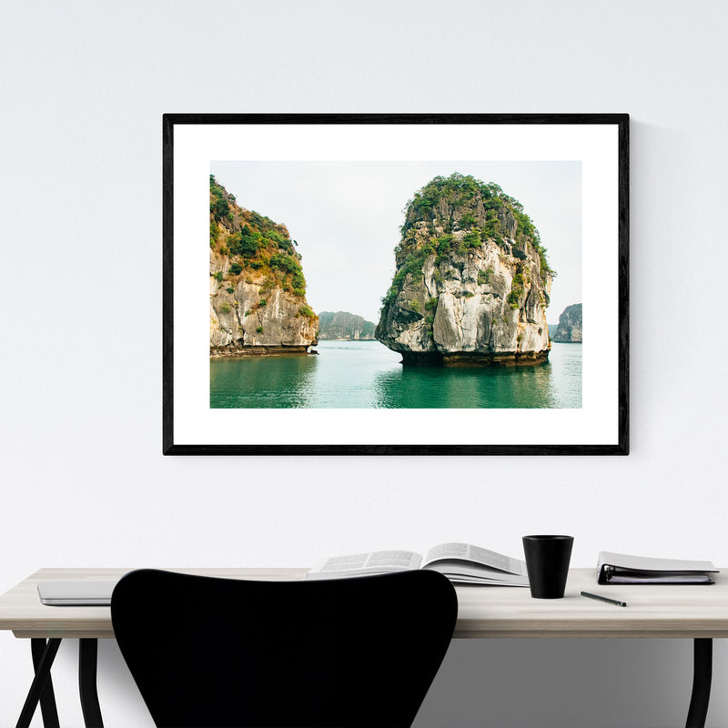 Halong Bay Vietnam Beach Photo Framed Art Print