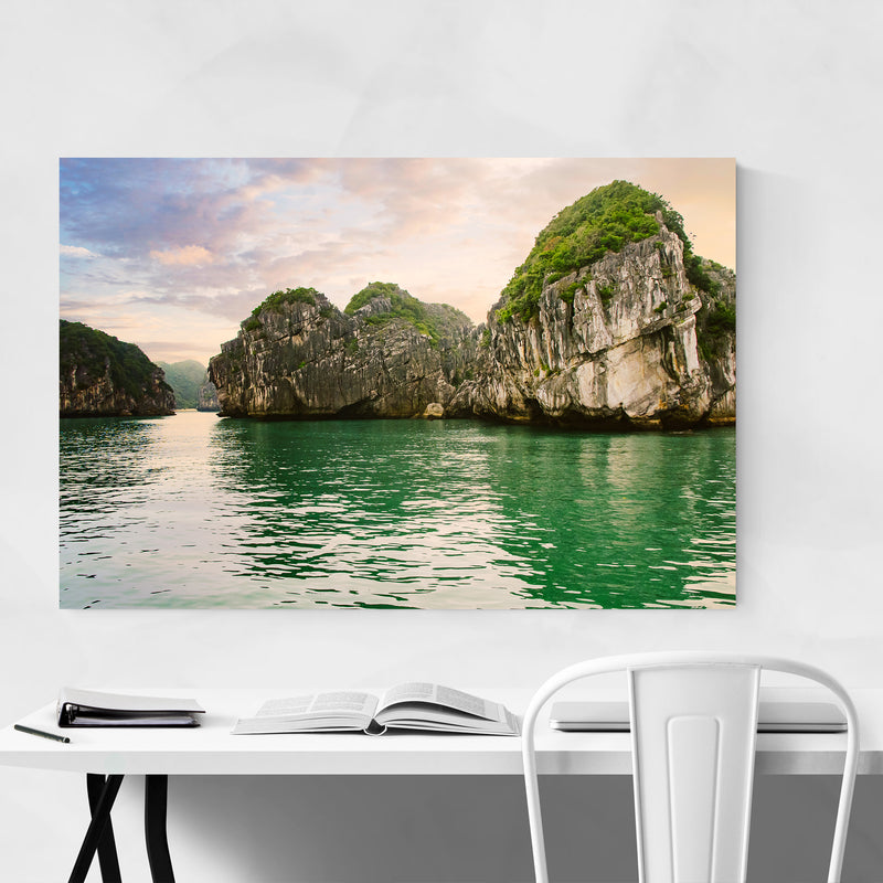 Halong Bay Vietnam Beach Photo Art Print