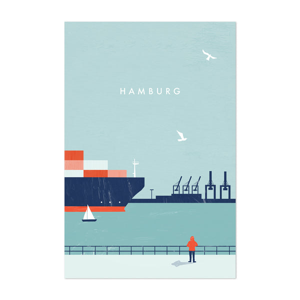 Hamburg Germany Vintage Travel Art Print
