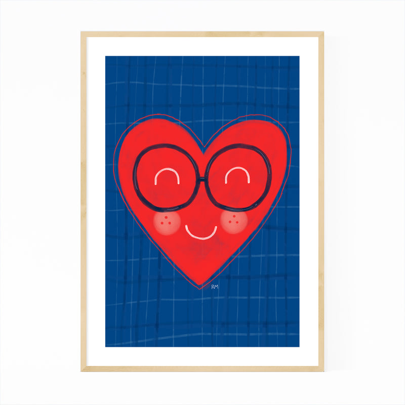 Heart Love Cute Inspirational Framed Art Print