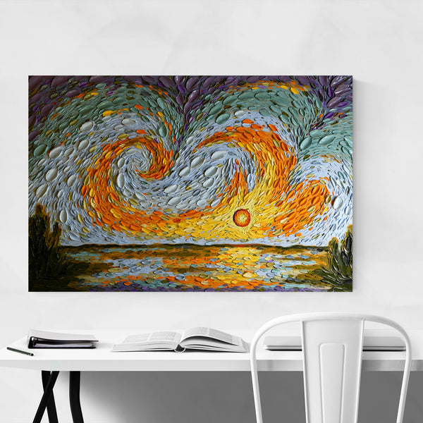 Abstract Nature Sky Painting Art Print