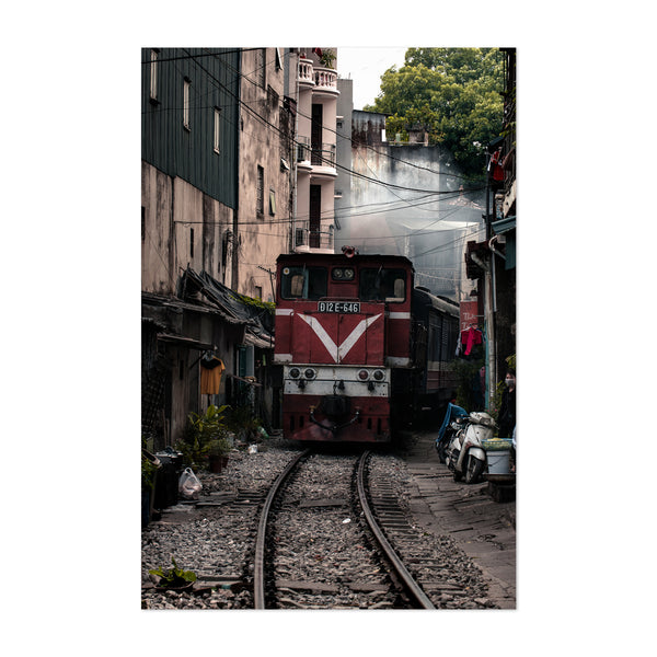 Hanoi Vietnam Train Urban Photo Art Print