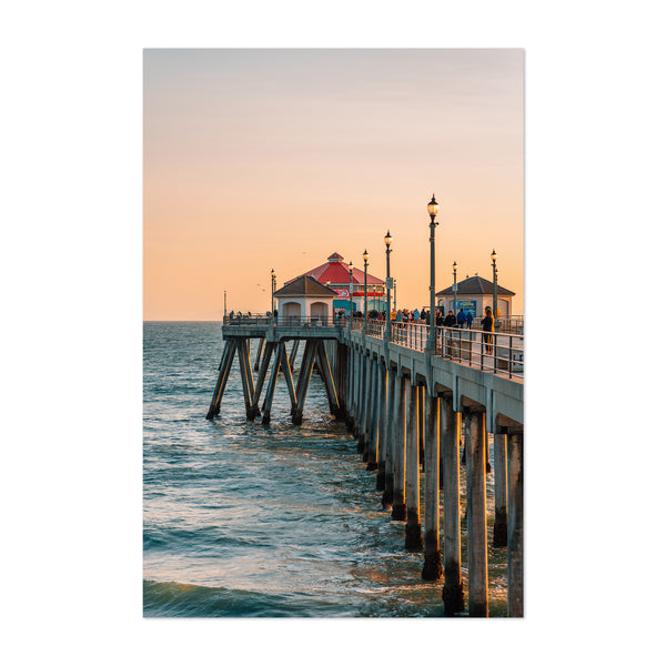 Huntington Beach Pier California Art Print