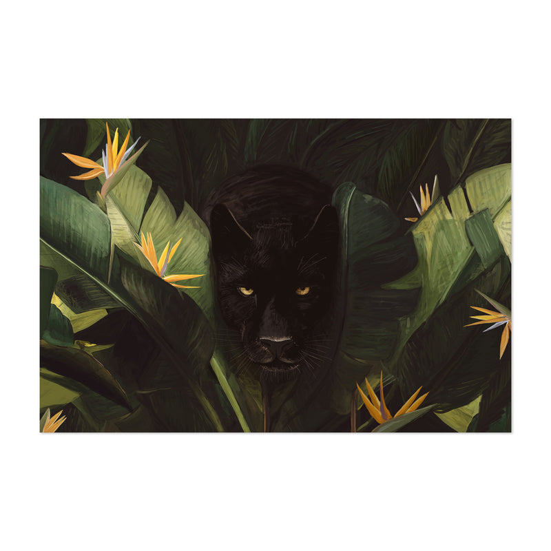 Tropical Panther Forest Animal Art Print