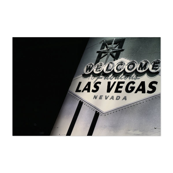 Welcome to Las Vegas Sign Photo Art Print