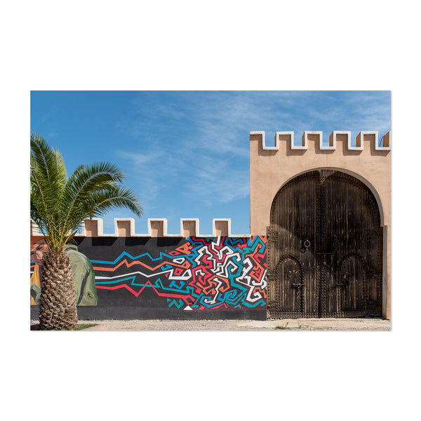 Morocco Street Art Palm Tree Art Print