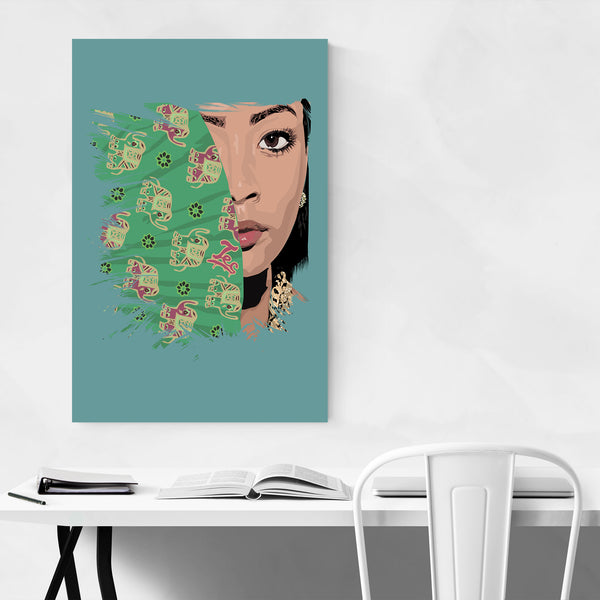 Honey Cocaine Portrait Rap Music Art Print