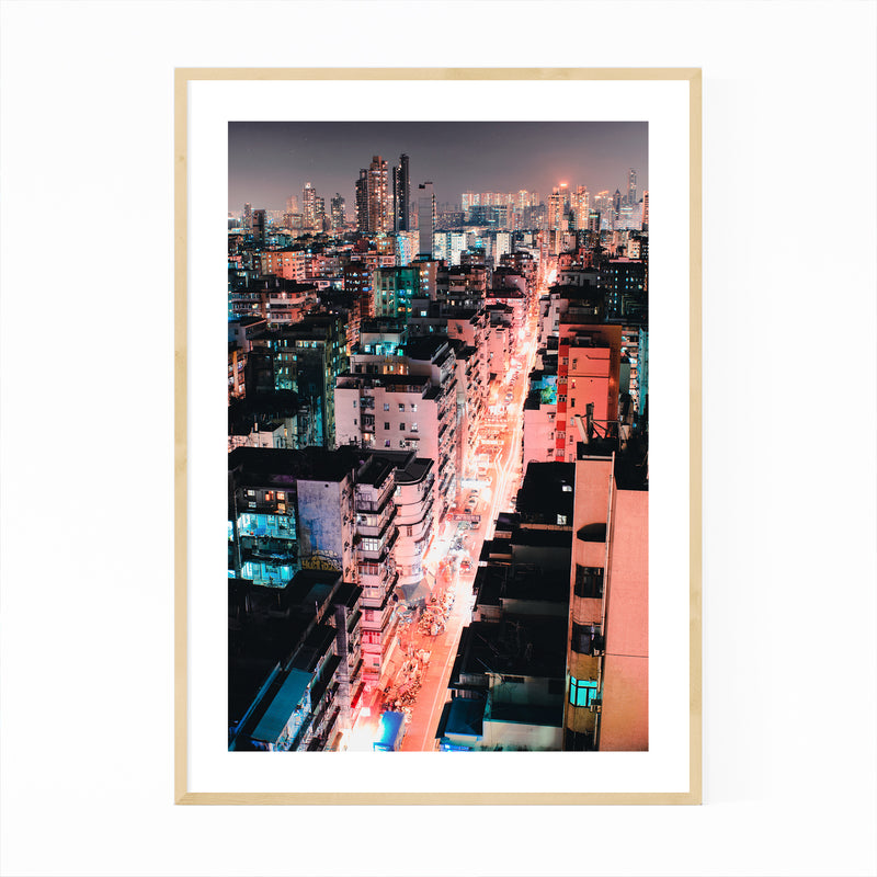 Hong Kong Urban Photography Framed Art Print