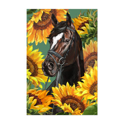 Horse Cute Animal Childrens Room Art Print