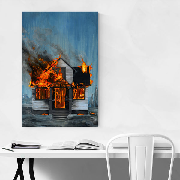 House on Fire Painting Art Print