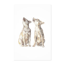 Wolf Animal Painting Nature Art Print