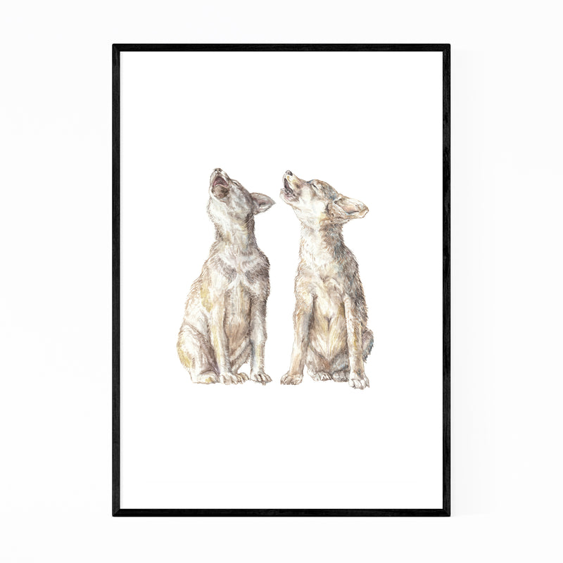 Wolf Animal Painting Nature Framed Art Print