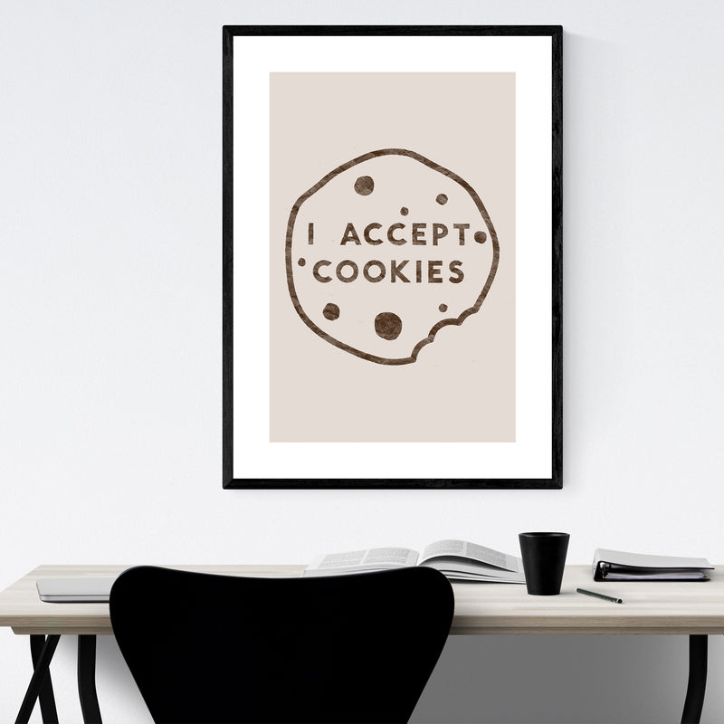 Humor Funny Cookies Kitchen Gift Framed Art Print