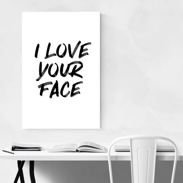 Cute Love Typography Quote Art Print