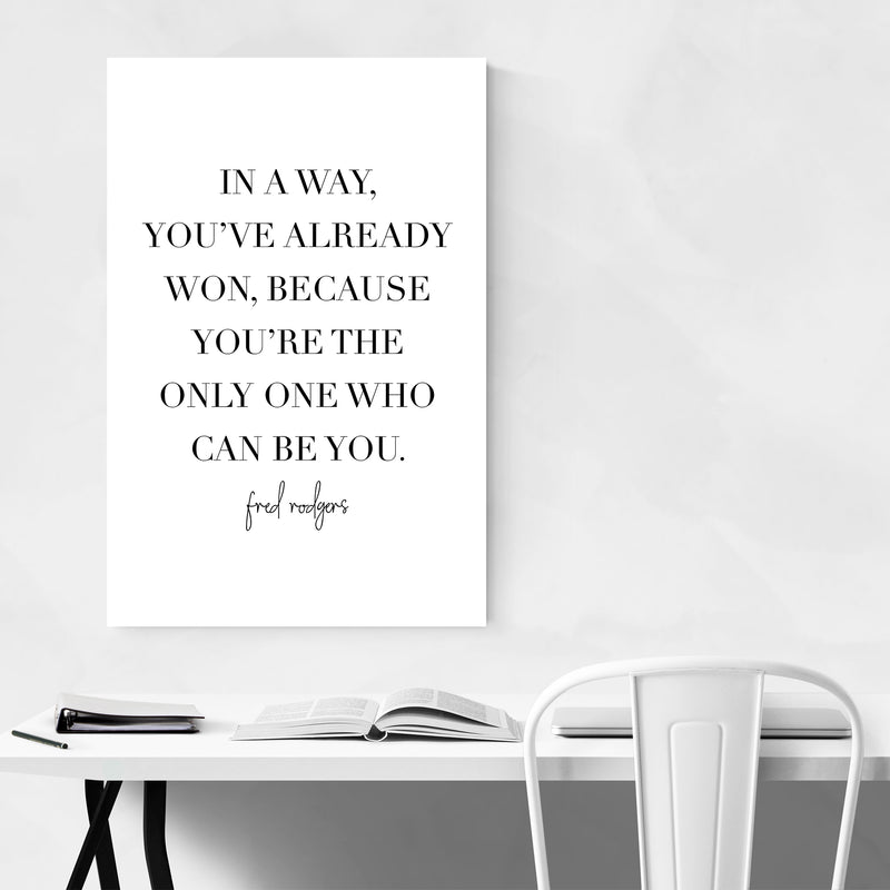 Fred Rogers Quote Typography Art Print Poster Framed Wall Art Noir Gallery