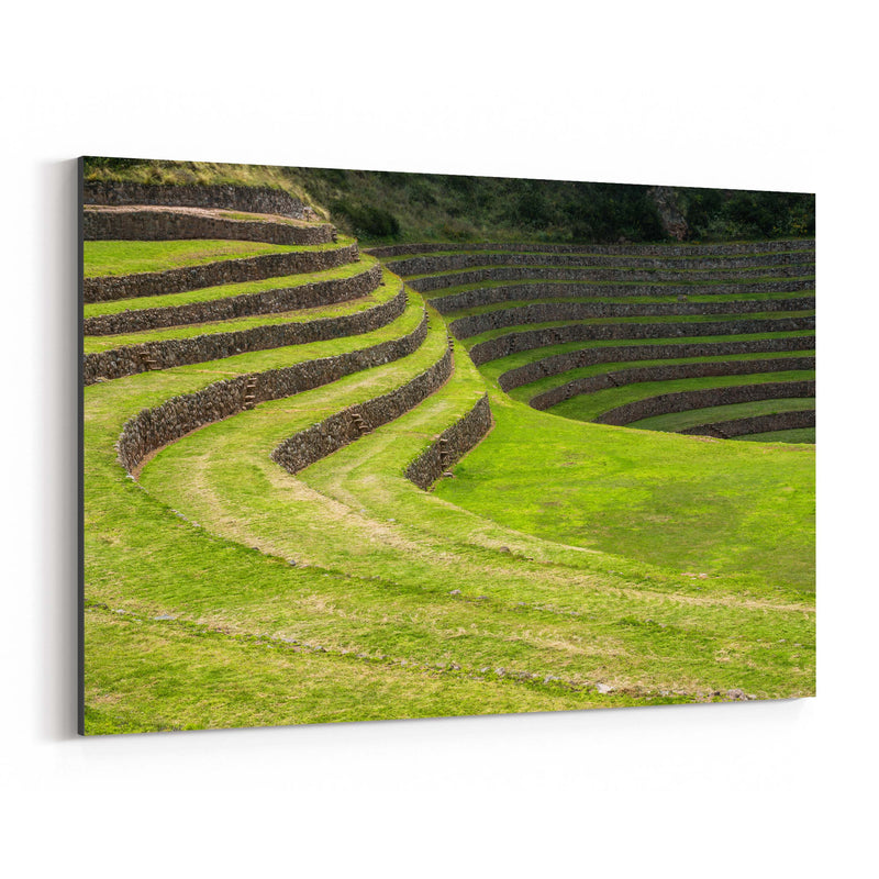 Inca Terraces Moray Cusco Peru Canvas Art Print