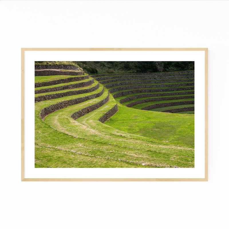 Inca Terraces Moray Cusco Peru Framed Art Print