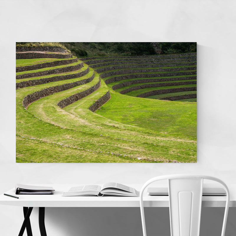 Inca Terraces Moray Cusco Peru Metal Art Print