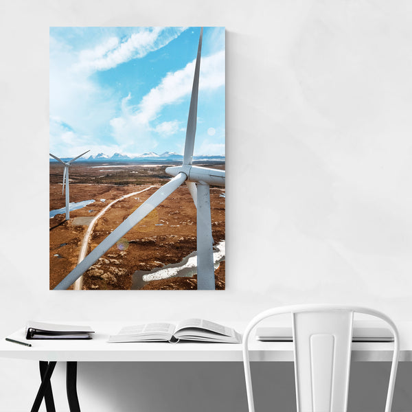 Smøla Windmills Norway Nature Photo Art Print