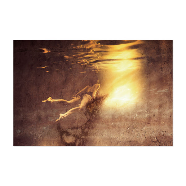 Feminine Swimming Photo Art Print