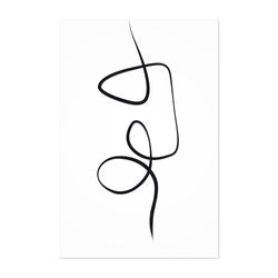 Abstract Minimal Ink Line Drawing Art Print