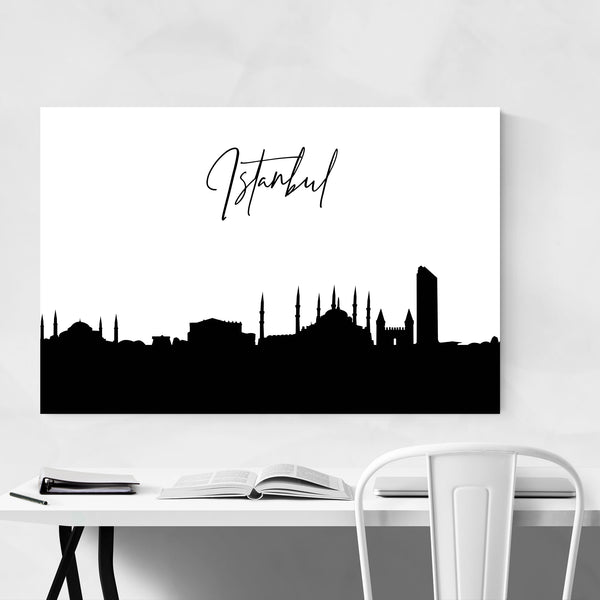 Istanbul Turkey City Typography Art Print
