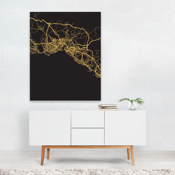 Istanbul Turkey Urban Map Art Print