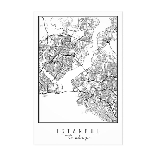 Istanbul Turkey City Map Art Print