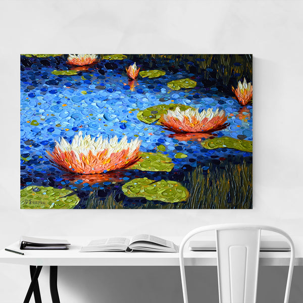 Lily Pads Nature Painting Art Print