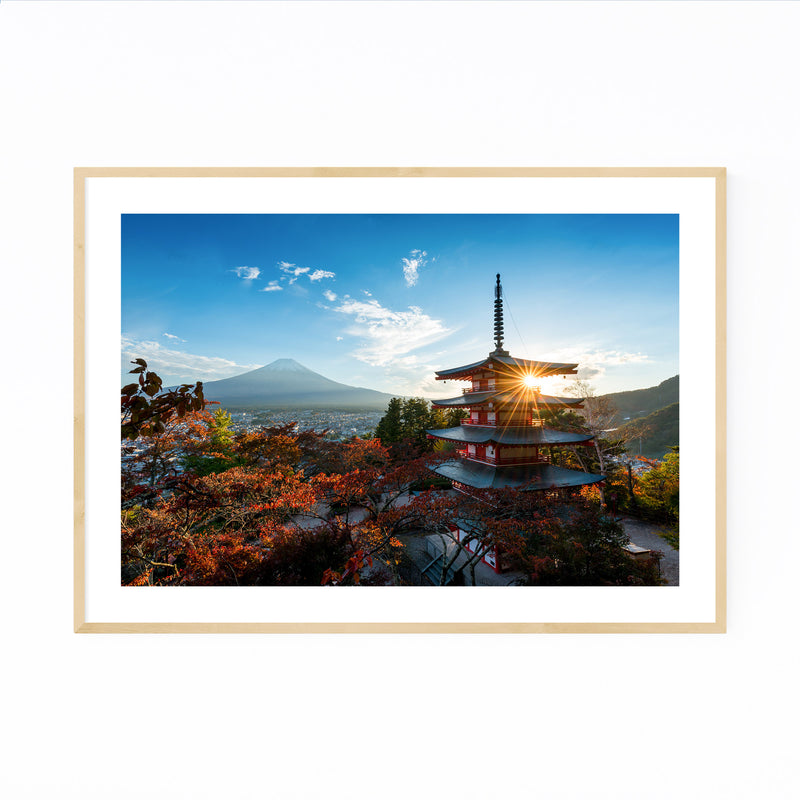 Arakura Sengen Shrine Japan Framed Art Print